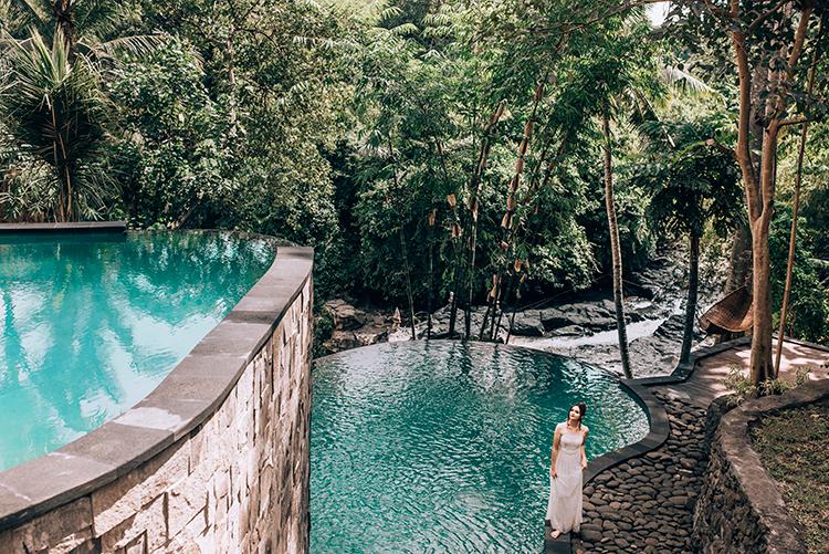 D'tukad River Club Blangsinga 2 » D'tukad River Club Blangsinga, Liburan Menantang Naik Swing di Atas Air Terjun