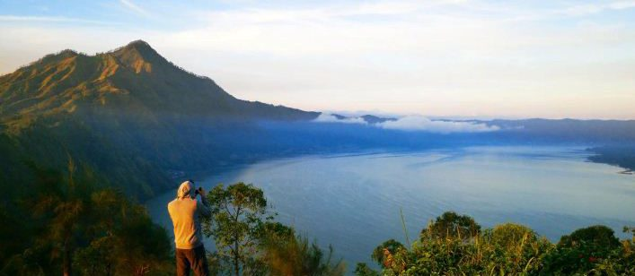 Gunung Batur dan Gunung Agung
