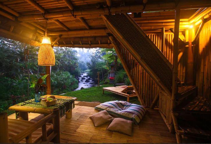Hotel Hideout Bali – Penginapan Ramah Lingkungan dari Bambu yang Tersembunyi di Kaki Gunung