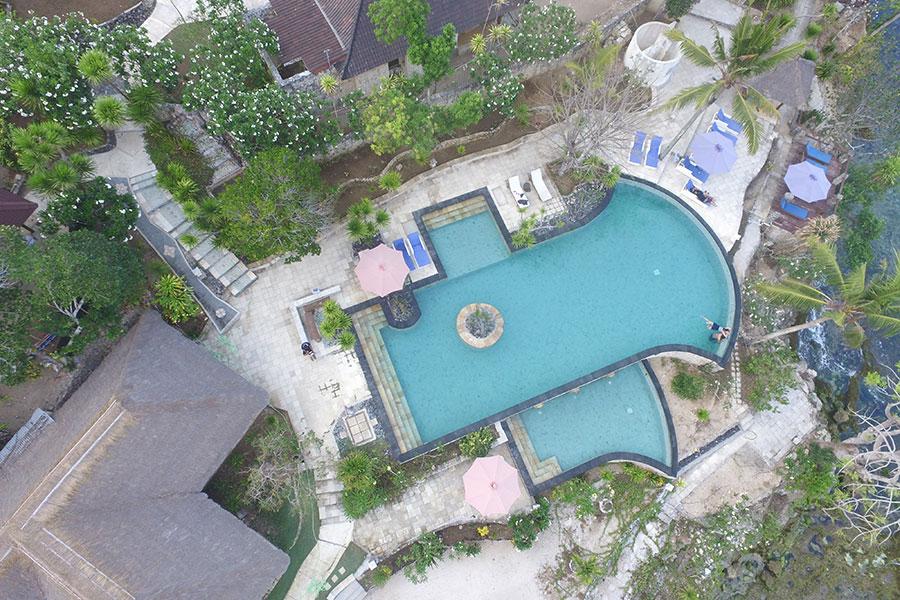 Hotel Sadeg Lembongan 1 » Hotel Sadeg Lembongan, Hotel dengan Infinity Pool yang Suguhkan Pemandangan Mushroom Beach