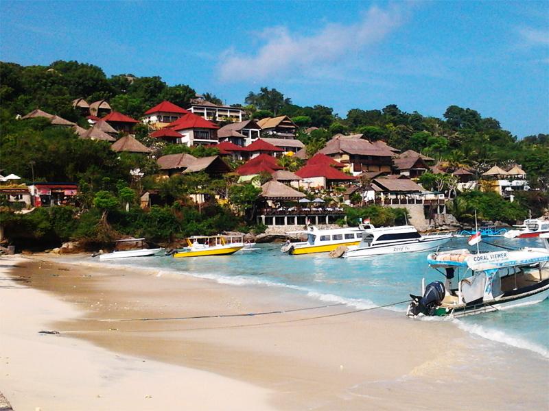 Pantai Jungut Batu Nusa Lembongan 2 » Pantai Jungut Batu Nusa Lembongan, Pintu Masuk Lembongan dengan Pemandangan Spektakuler