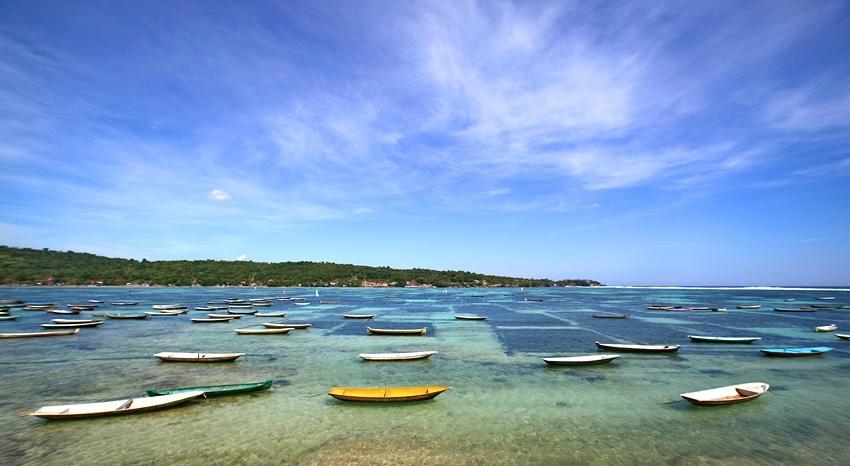 Pantai Lebaoh Nusa Lembongan, Wisata Edukatif Melihat Budidaya Rumput Laut Nelayan