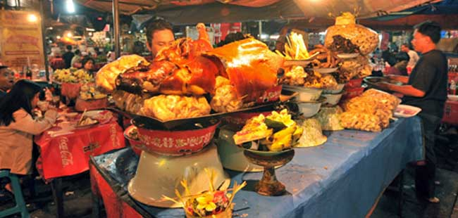 Pasar Kreneng Denpasar 1 » Wisata Kuliner Pasar Kreneng Denpasar di Malam Hari, Lengkap Lho!