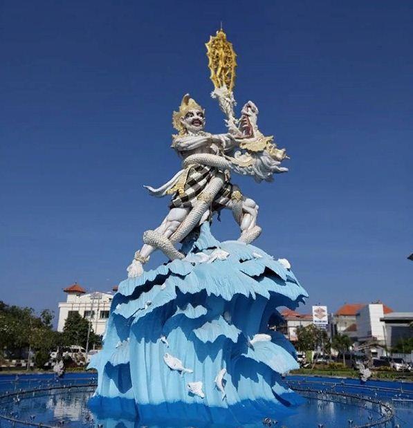 Patung Dewa Ruci Kuta 1 » Patung Dewa Ruci Kuta, Monumen Megah yang Menggambarkan Kegagahan Bima