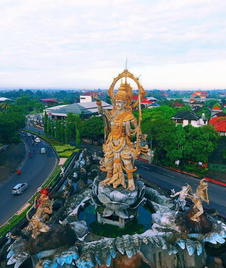 Patung Titi Banda Denpasar 1 » Patung Titi Banda Denpasar, Patung dengan Sarat Makna Ikon Terbaru Pulau Bali