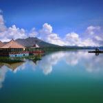 Pemandangan menyejukkan mata Danau Batur Kintamani