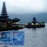Pura Ulun Danu Bratan dalam uang pecahan 50 ribu rupiah