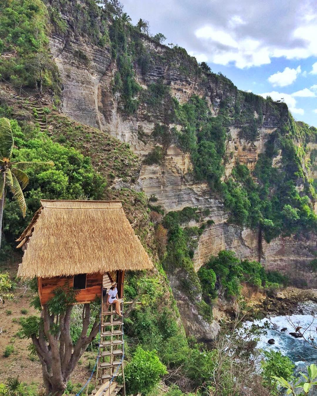 Rumah Pohon Batu Molenteng Atuh Area, Penginapan dan Tempat Foto Instagramable di Nusa Penida