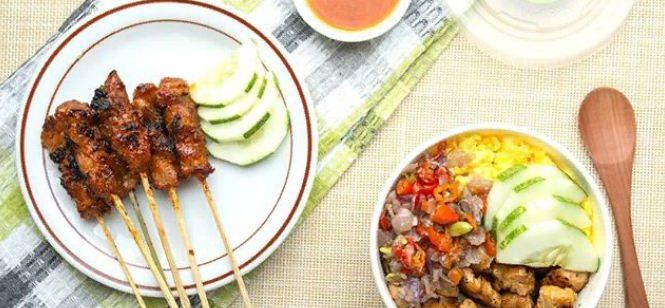 Sate Ayam Babi Oka Bali