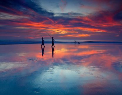 Sunset di Pantai Seminyak Bali