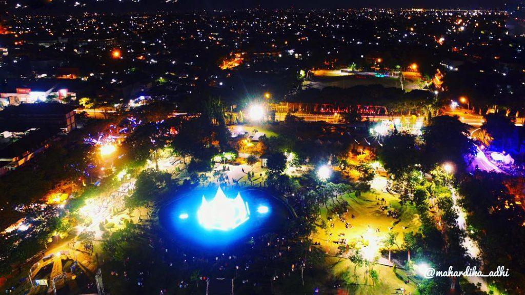 Taman Kota Lumintang Denpasar 4 1024x575 » Taman Kota Lumintang Denpasar, Sajikan Keindahan Air Mancur Menari yang Memesona