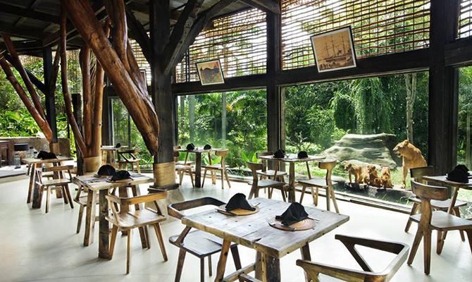 Wana Restaurant Bali Zoo 3 » Wana Restaurant Bali Zoo, Sensasi Kuliner Menantang dengan Ditemani Singa Raja Hutan