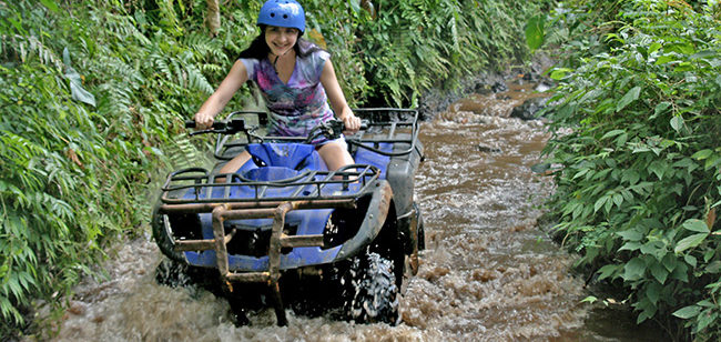 naik ATV di Bali