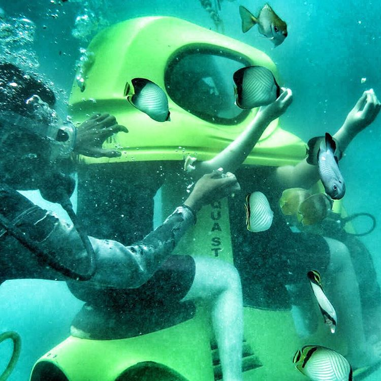 scooter underwater bali